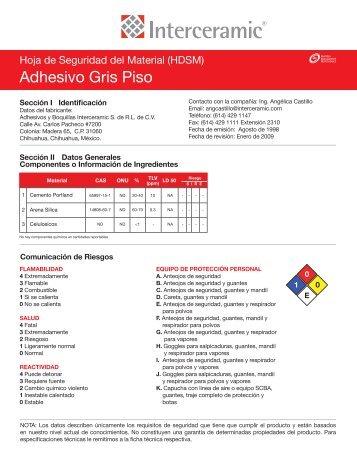 Adhesivo Gris Piso