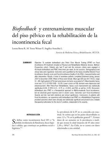 Biofeedback y entrenamiento muscular del piso pélvico en la ...