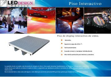 Piso Interactivo - led design mexico