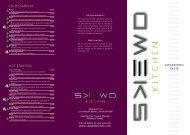 À la carte Menu - SKEWD Kitchen
