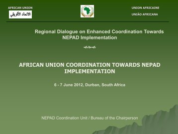 AFRICAN UNION COORDINATION TOWARDS NEPAD ...