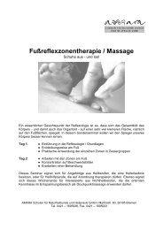 Fußreflexzonentherapie / Massage - Amara Schulen für ...