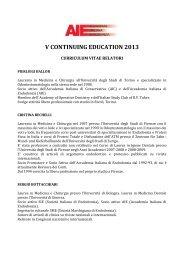 V CONTINUING EDUCATION 2013 - Accademia Italiana Endodonzia
