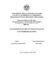 Analisi molecolare in pazienti italiani con sindrome ... - UniCA Eprints
