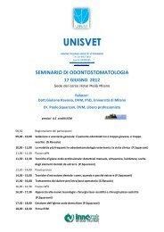 seminario di odontostomatologia 17 giugno 2012 - Unisvet