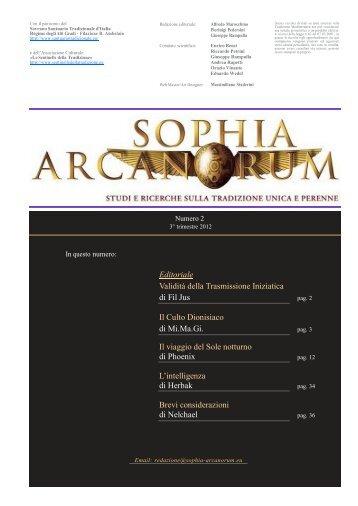 Per scaricare l'INTERA RIVISTA cliccare QUI - Sophia Arcanorum