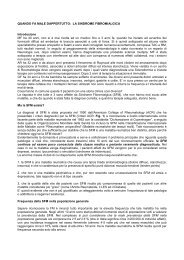La sindrome Fibromialgica - AMRER Associazione Malati Reumatici ...