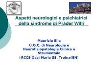L'approccio neurofarmacologico ai disturbi comportamentali della ...