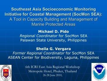 Southeast Asia Socioeconomic Monitoring Initiative for Coastal ...