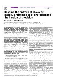 Reading the entrails of chickens: molecular timescales of evolution ...