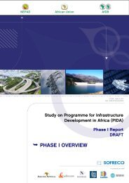 Study on Programme for Infrastructure Development in Africa - PIDA