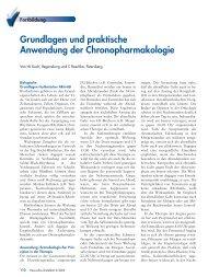 Grundlagen und praktische Anwendung der Chronopharmakologie