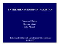 entrepreneurship in pakistan - Pakistan Institute of Development ...