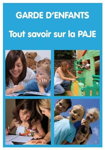 GARDE D'ENFANTS Tout savoir sur la PAJE - Familles Rurales