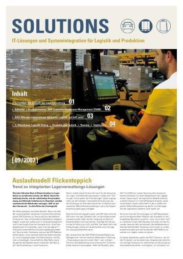 """SOLUTIONS """"Zukunft der Lagerverwaltung"""" (9/2007)"""