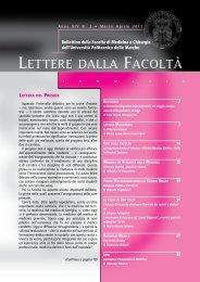 2.Lettere della Facoltà marzo-aprile 2011.pdf - Facoltà di Medicina e ...
