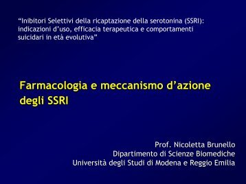 Farmacologia e meccanismo d'azione degli SSRI