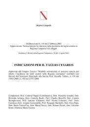 INDICAZIONI PER IL TAGLIO CESAREO - Regione Campania