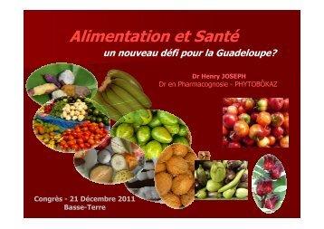 Alimentation et Santé - Conseil Régional de Guadeloupe
