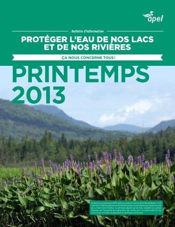 PRINTEMPS 2013