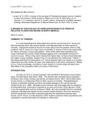of P. tenuis and deer and moose populations - Natural Resources ...