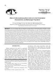 Effect of 2-Bromoethanesulfonic Acid on In vitro Fermentation ... - AJAS