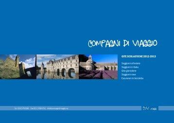 GITE SCOLASTICHE 2012-2013 - Compagni di viaggio