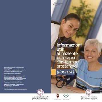 Informazioni utili al paziente in terapia con farmaci prostanoidi