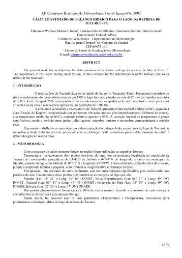 Download - Congresso Brasileiro de Meteorologia