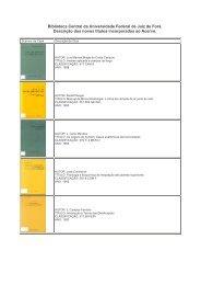 Descrição dos novos títulos incorporados ao Acervo da Biblioteca ...