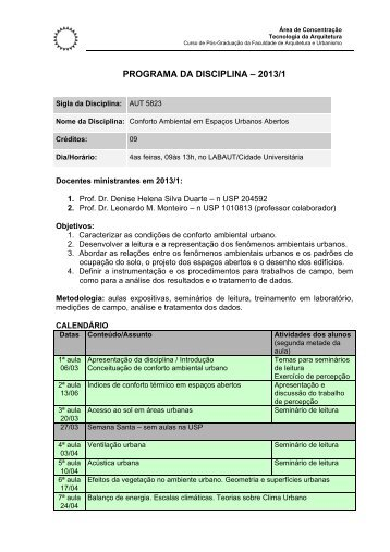 Aut 5823 20131 Programa.pdf - FAU - USP