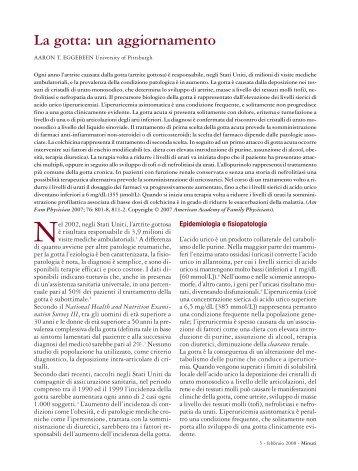 La gotta - Fondazione Internazionale Menarini