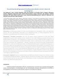 Caracterización del genoma de methanomicrobiales ... - Nuevos