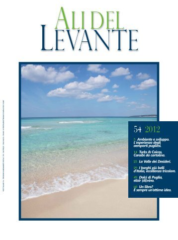 Ali del Levante N.54 Dicembre 2012 - Aeroporti di Puglia
