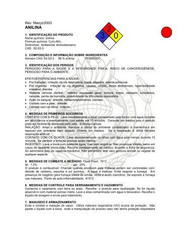 ANILINA - Faculdades Oswaldo Cruz