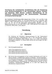 Verordnung - Stadt Alzenau