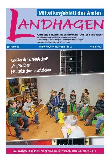 Mitteilungsblatt des Amtes - Amt Landhagen