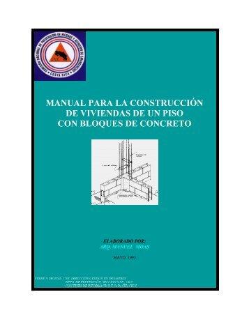 manual para la construcción de viviendas de un piso con bloques
