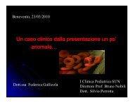 caso clinico 3 - OSPEDALE SACRO CUORE DI GESU