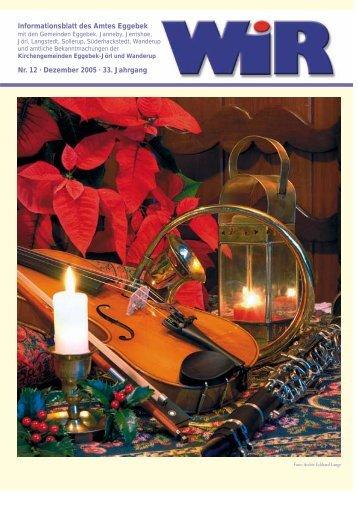Einladung zur Weihnachts - Amt Eggebek