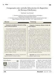 Comparação entre métodos laboratoriais de diagnóstico ... - NewsLab
