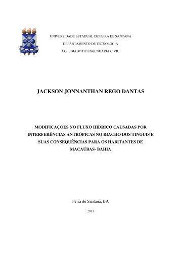 jackson jonnanthan rego dantas - acessos - Universidade Estadual ...