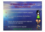 LE REGOLE D' ORO DELLA NEGOZIAZIONE - Fiba