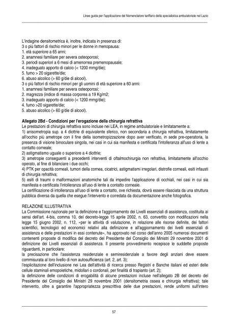linee guida per l'applicazione del nomenclatore tariffario della ...