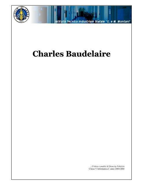 Charles Baudelaire Straccia Fabrizio Altervista