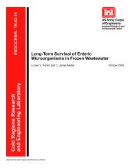 Long-Term Survival of Enteric Microorganisms in Frozen Wastewater