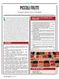 Liste varietali piccoli frutti - Regione Campania