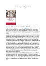 Jack London: una vita per il socialismo - Circolo Carlo Rosselli Milano