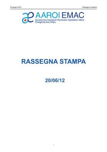 Spending review, Cardinale - Aaroi