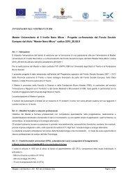 INVESTIAMO NEL VOSTRO FUTURO Master Universitario di II ...